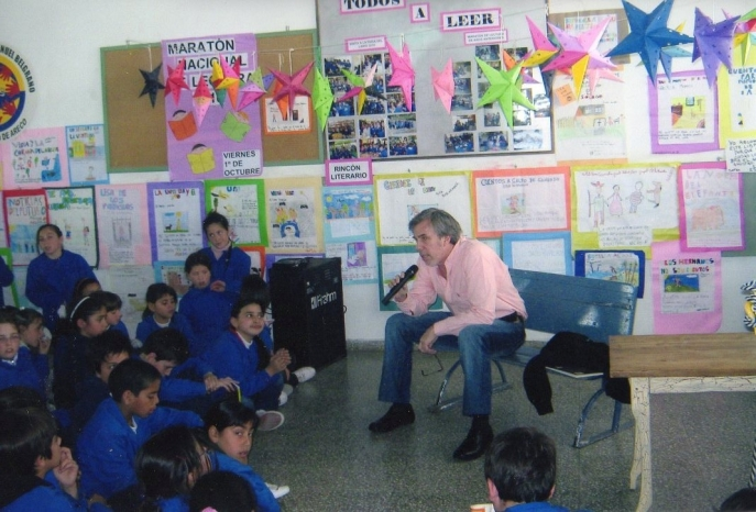 Presentación de El cuaderno escondido en la Escuela Manuel Belgrano de San Antonio de Areco 02